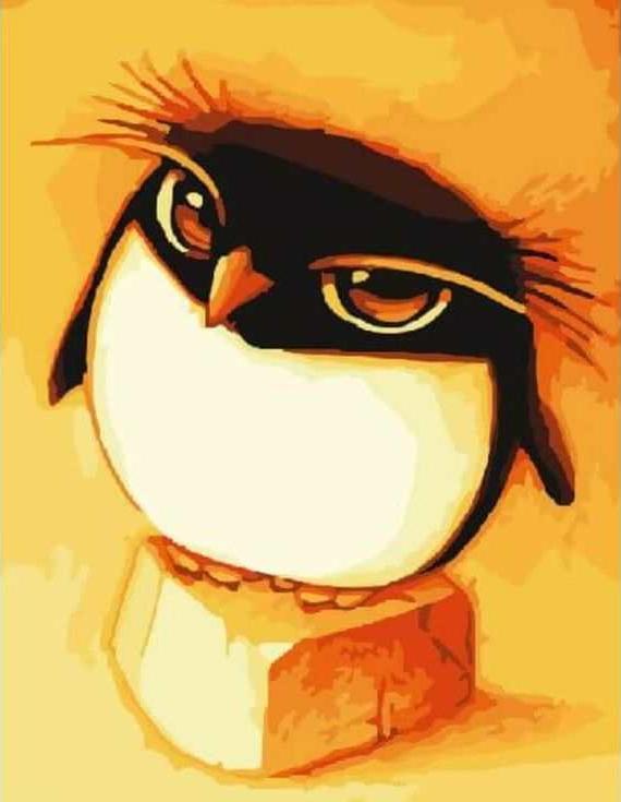 «Пингвинчик» ФабоЦветной (Standart)<br><br><br>Артикул: E118_Z<br>Основа: Холст<br>Сложность: сложные<br>Размер: 30x40 см<br>Количество цветов: 25<br>Техника рисования: Без смешивания красок