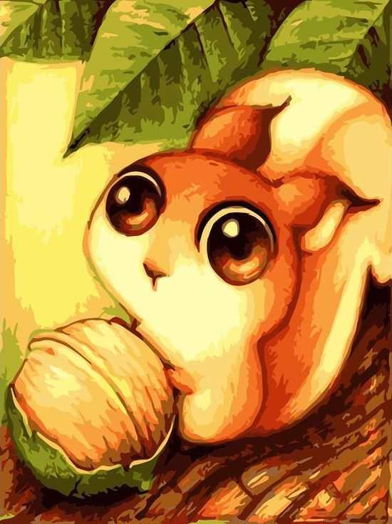 Картина по номерам «Белочка с орешком» ФабоРаскраски по номерам<br><br>