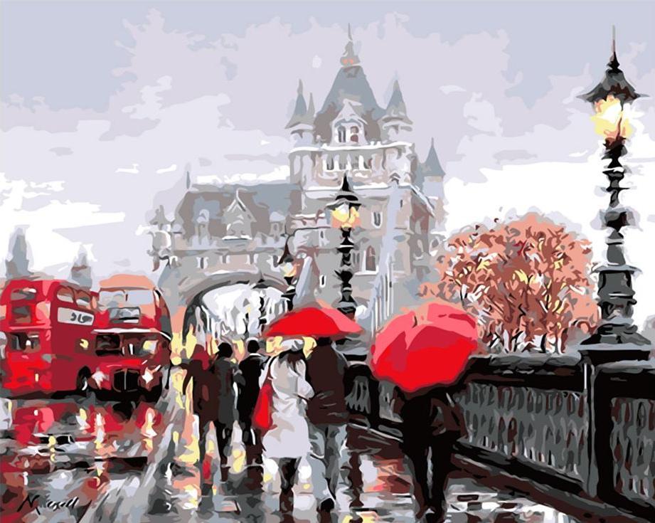 «Тауэрский мост» Ричарда МакнейлаPaintboy (Premium)<br><br><br>Артикул: GX3096<br>Основа: Холст<br>Сложность: сложные<br>Размер: 40x50 см<br>Количество цветов: 25<br>Техника рисования: Без смешивания красок