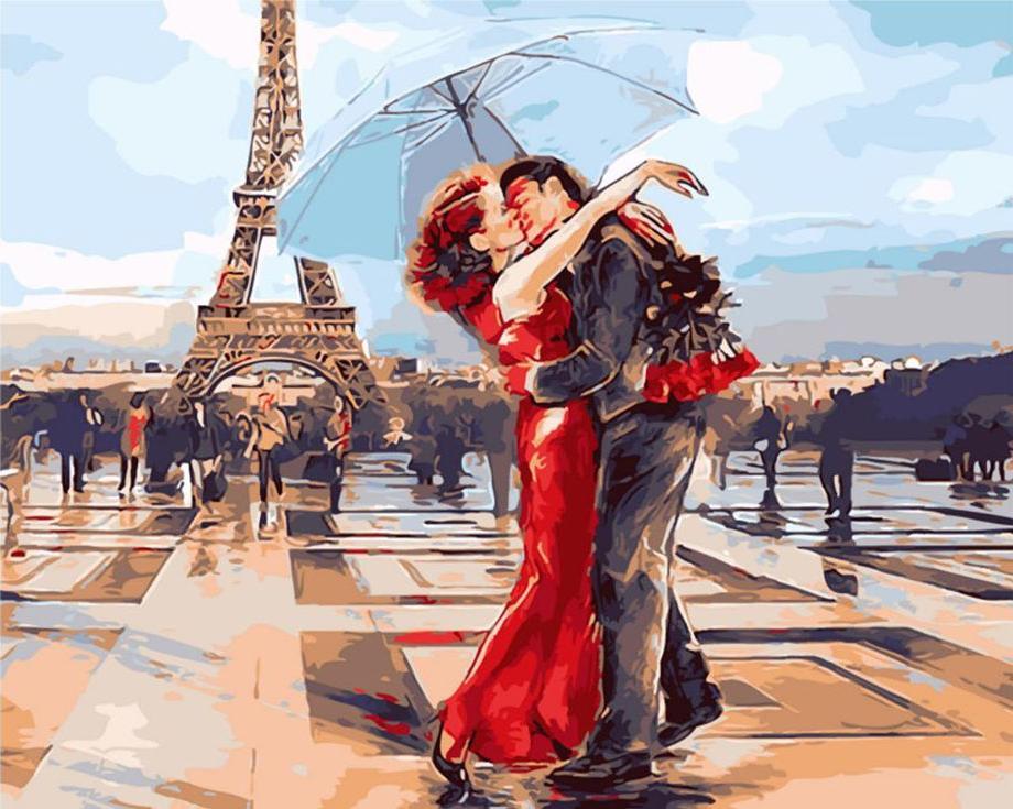 Картина по номерам «Французский поцелуй»Paintboy (Premium)<br><br><br>Артикул: GX3122<br>Основа: Холст<br>Сложность: сложные<br>Размер: 40x50 см<br>Количество цветов: 25<br>Техника рисования: Без смешивания красок