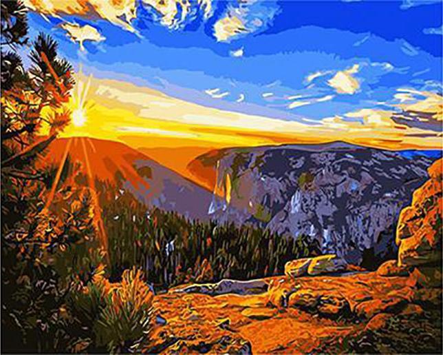 Картина по номерам «Гора Сентинел-Доум»Paintboy (Premium)<br><br><br>Артикул: GX3148<br>Основа: Холст<br>Сложность: сложные<br>Размер: 40x50 см<br>Количество цветов: 25<br>Техника рисования: Без смешивания красок