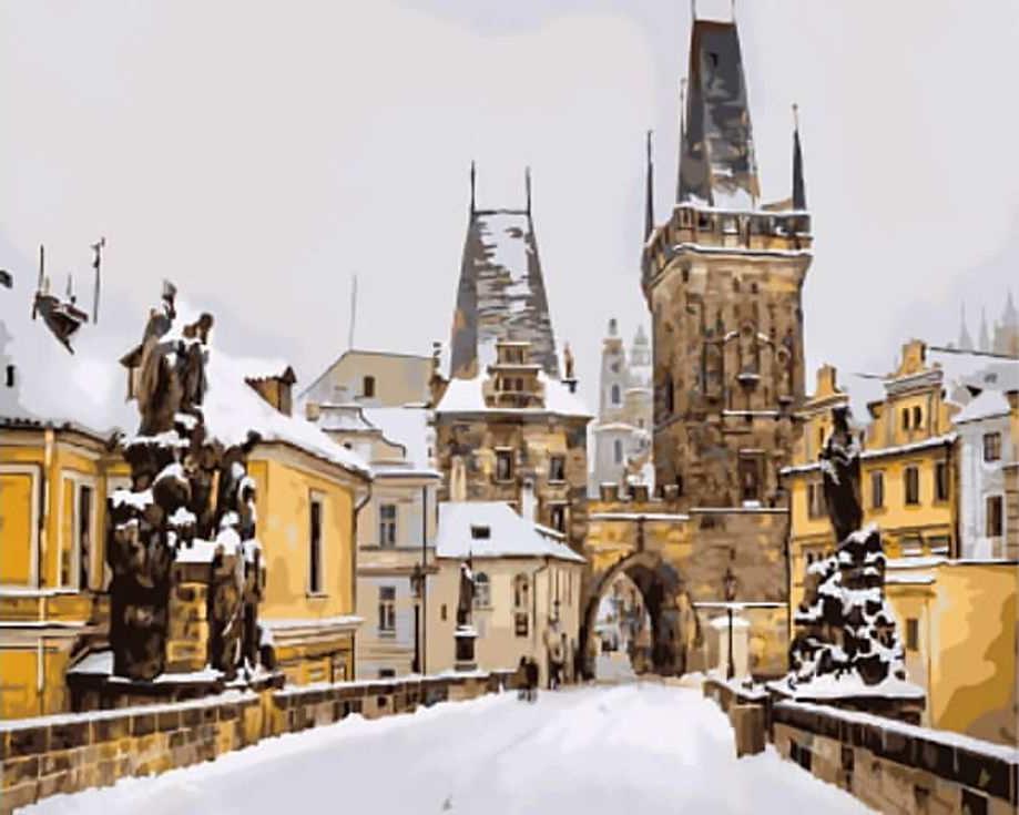 Картина по номерам «Карлов мост зимой. Прага»