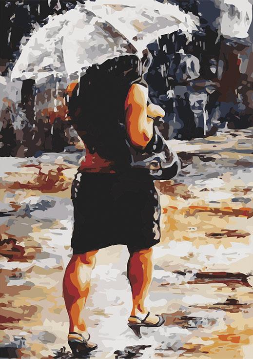 «Дождливый день» Эмерико ТотаЦветной (Standart)<br><br><br>Артикул: GX8716_Z<br>Основа: Холст<br>Сложность: сложные<br>Размер: 40x50 см<br>Количество цветов: 25<br>Техника рисования: Без смешивания красок