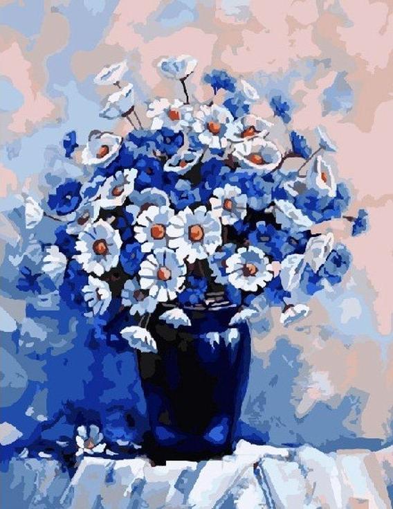 «Натюрморт с ромашками» Александра ГунинаЦветной (Standart)<br><br><br>Артикул: GX8779_Z<br>Основа: Холст<br>Сложность: сложные<br>Размер: 40x50<br>Количество цветов: 25<br>Техника рисования: Без смешивания красок