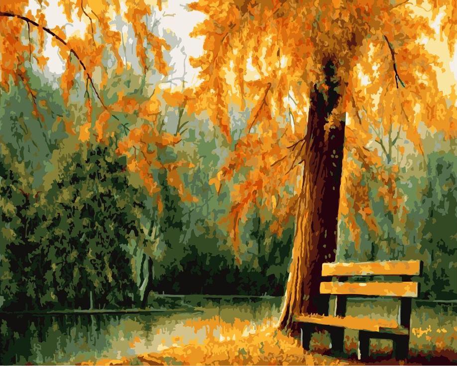 «Осенью в парке» Ави БелешаPaintboy (Premium)<br><br><br>Артикул: GX8780<br>Основа: Холст<br>Сложность: сложные<br>Размер: 40x50 см<br>Количество цветов: 25<br>Техника рисования: Без смешивания красок