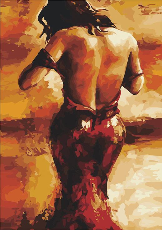«Леди в красном платье» Эмерико ТотаЦветной (Standart)<br><br><br>Артикул: GX8886_Z<br>Основа: Холст<br>Сложность: сложные<br>Размер: 40x50 см<br>Количество цветов: 25<br>Техника рисования: Без смешивания красок