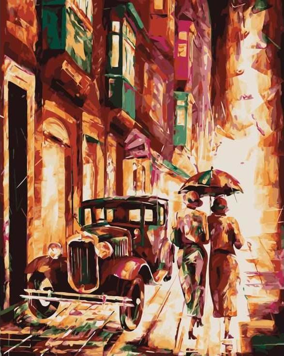 Картина по номерам «Вечер в городе»Цветной (Standart)<br><br><br>Артикул: GX8916_Z<br>Основа: Холст<br>Сложность: сложные<br>Размер: 40x50 см<br>Количество цветов: 25<br>Техника рисования: Без смешивания красок
