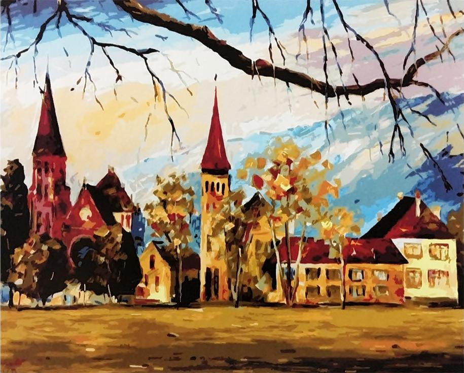 Картина по номерам «Швейцария» Леонида АфремоваРаскраски по номерам<br><br>