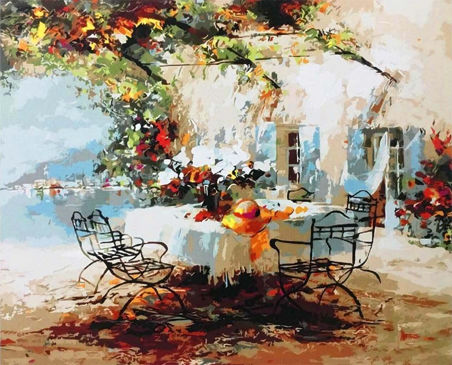 Картина по номерам «В саду» Виллема ХайенраетсаPaintboy (Premium)<br><br><br>Артикул: GX9780<br>Основа: Холст<br>Сложность: средние<br>Размер: 40x50 см<br>Количество цветов: 25<br>Техника рисования: Без смешивания красок