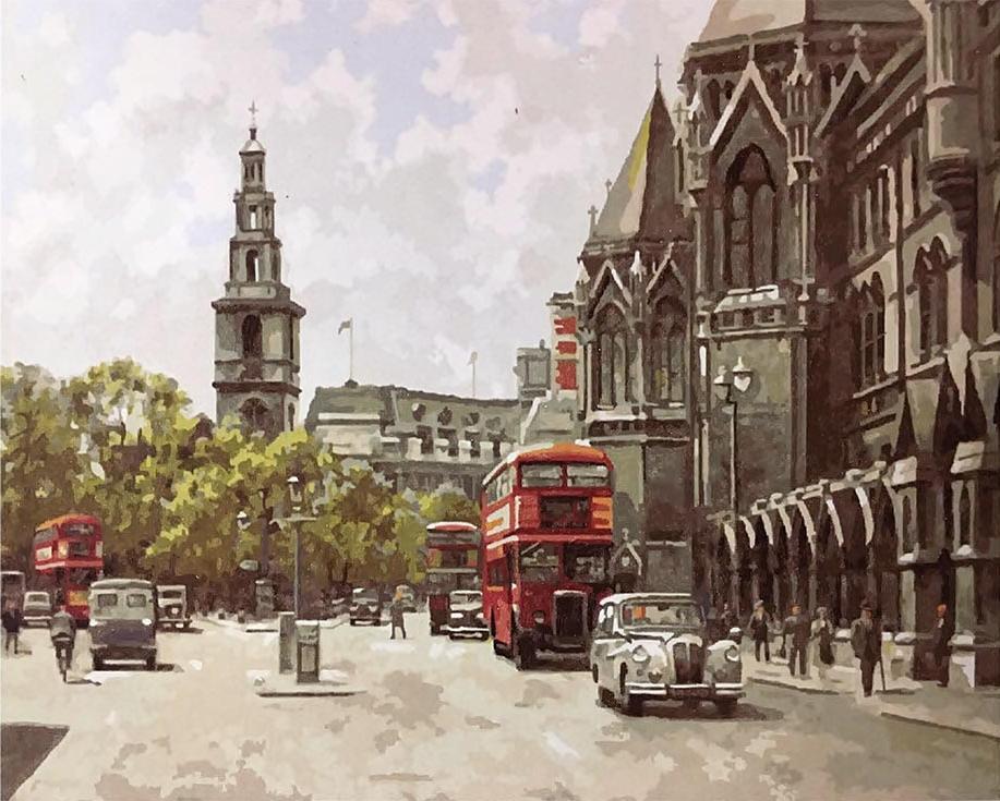 «Стрэнд, Лондон» Джона ЧапменаPaintboy (Premium)<br><br><br>Артикул: GX9793<br>Основа: Холст<br>Сложность: средние<br>Размер: 40x50 см<br>Количество цветов: 27<br>Техника рисования: Без смешивания красок