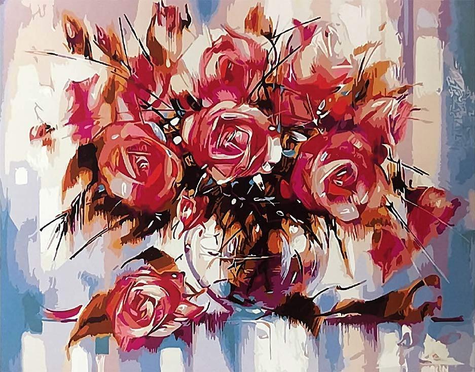 «Розы» Зиновия СыдориваPaintboy (Premium)<br><br><br>Артикул: GX9898<br>Основа: Холст<br>Сложность: средние<br>Размер: 40x50 см<br>Количество цветов: 24<br>Техника рисования: Без смешивания красок