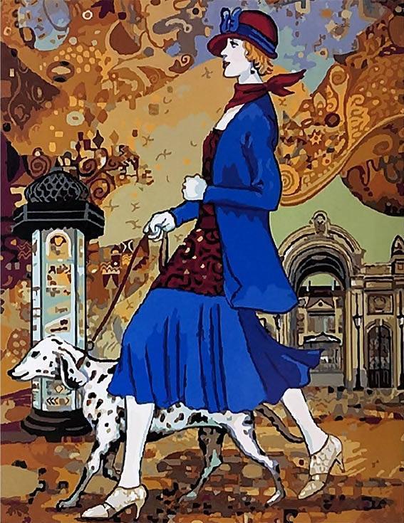 «Полуденная прогулка» Хелены ЛамPaintboy (Premium)<br><br><br>Артикул: GX9915<br>Основа: Холст<br>Сложность: сложные<br>Размер: 40x50 см<br>Количество цветов: 28<br>Техника рисования: Без смешивания красок