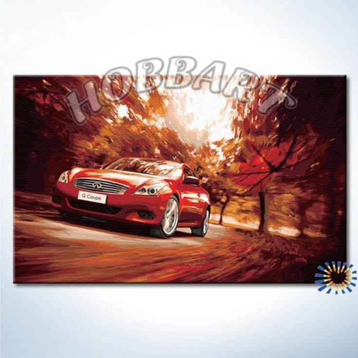 «Удовольствие скорости»Hobbart<br><br><br>Артикул: HB4050349<br>Основа: Холст<br>Сложность: сложные<br>Размер: 40x50 см<br>Количество цветов: 25<br>Техника рисования: Без смешивания красок