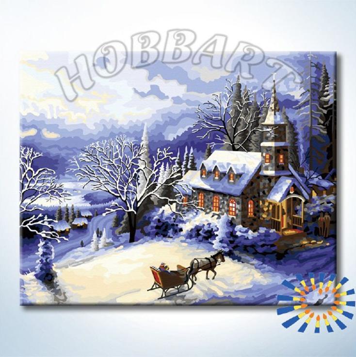 «В заснеженный замок»Hobbart<br><br><br>Артикул: HB4050357<br>Основа: Холст<br>Сложность: сложные<br>Размер: 40x50 см<br>Количество цветов: 25<br>Техника рисования: Без смешивания красок