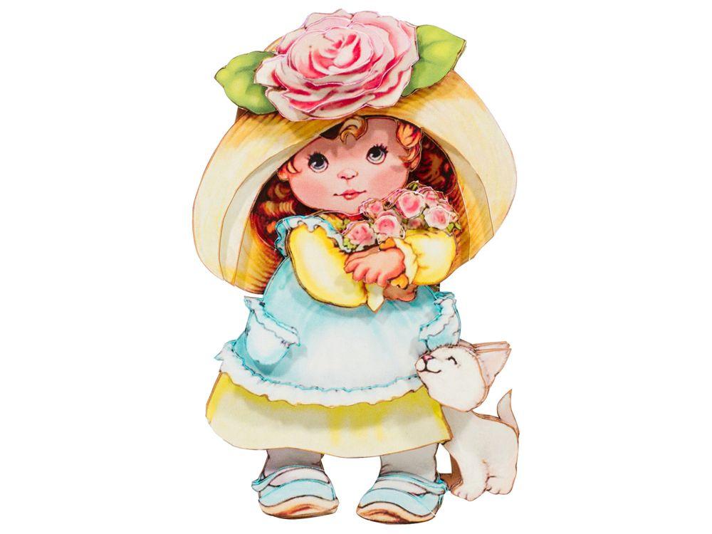 Папертоль «Девочка с розами»