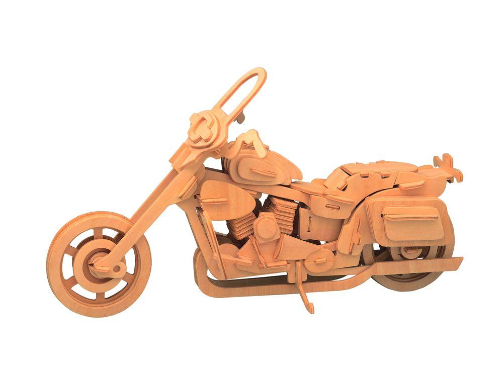 Конструктор «Классический мотоцикл»Сборные деревянные модели<br>Конструкторы от производителя Чудо-дерево для детей и взрослых, для подарка и личного интересного досуга – теперь на Цветное.ру. Многообразие моделей позволит сделать выбор даже самому требовательному покупателю. <br> <br> Приобретая конструктор от производит...<br><br>Артикул: P020<br>Вес: 0,42 кг<br>Размер готовой модели: 20x30x9,5 см<br>Материал: Дерево<br>Упаковка: прозрачная пленка<br>Размер упаковки: 37,0 x 0,9 x 23,0 см<br>Количество пластин заготовок шт: 3<br>Размер пластин: 23x37x0,3 см<br>Возраст: от 5 лет