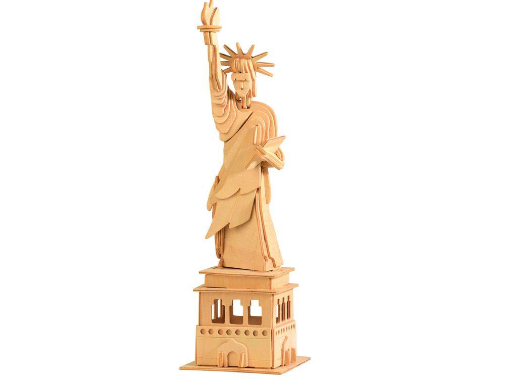 Конструктор «Статуя Свободы»Сборные деревянные модели<br>Конструкторы от производителя Чудо-дерево для детей и взрослых, для подарка и личного интересного досуга – теперь на Цветное.ру. Многообразие моделей позволит сделать выбор даже самому требовательному покупателю. <br> <br> Приобретая конструктор от производит...<br><br>Артикул: P031<br>Вес: 0,42 кг<br>Размер готовой модели: 39x11x12,5 см<br>Материал: Дерево<br>Упаковка: прозрачная пленка<br>Размер упаковки: 37,0 x 0,9 x 23,0 см<br>Количество пластин заготовок шт: 3<br>Размер пластин: 23x37x0,3 см<br>Возраст: от 5 лет