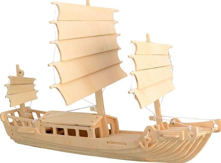 Конструктор «Корабль джонка»Сборные деревянные модели<br>Конструкторы от производителя Чудо-дерево для детей и взрослых, для подарка и личного интересного досуга – теперь на Цветное.ру. Многообразие моделей позволит сделать выбор даже самому требовательному покупателю. <br> <br> Приобретая конструктор от производит...<br><br>Артикул: P045<br>Вес: 0,42 кг<br>Размер готовой модели: 25,5x32x7,3 см<br>Материал: Дерево<br>Упаковка: прозрачная пленка<br>Размер упаковки: 37,0 x 0,9 x 23,0 см<br>Количество пластин заготовок шт: 3<br>Размер пластин: 23x37x0,3 см<br>Возраст: от 5 лет