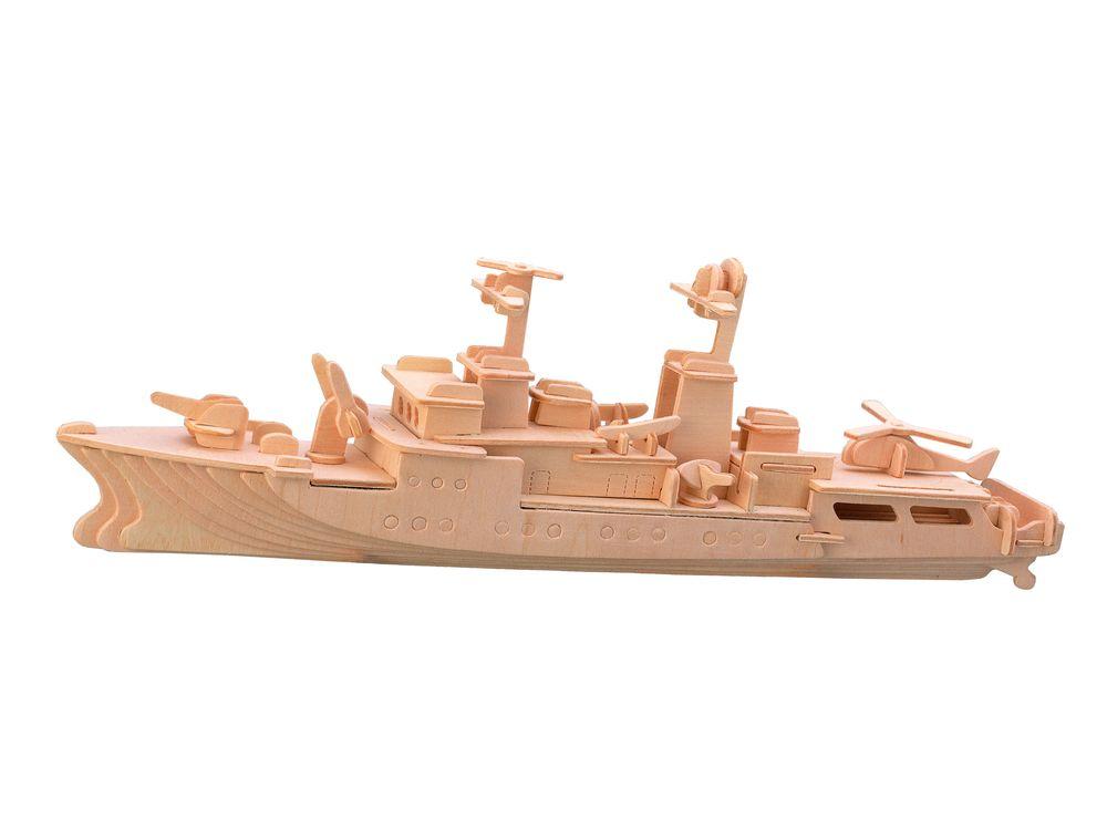 Конструктор «Корабль сторожевик»Сборные деревянные модели<br>Конструкторы от производителя Чудо-дерево для детей и взрослых, для подарка и личного интересного досуга – теперь на Цветное.ру. Многообразие моделей позволит сделать выбор даже самому требовательному покупателю. <br> <br> Приобретая конструктор от производит...<br><br>Артикул: P046<br>Вес: 0,42 кг<br>Размер готовой модели: 16x36x7 см<br>Материал: Дерево<br>Упаковка: прозрачная пленка<br>Размер упаковки: 37,0 x 0,9 x 23,0 см<br>Количество пластин заготовок шт: 3<br>Размер пластин: 23x37x0,3 см<br>Возраст: от 5 лет