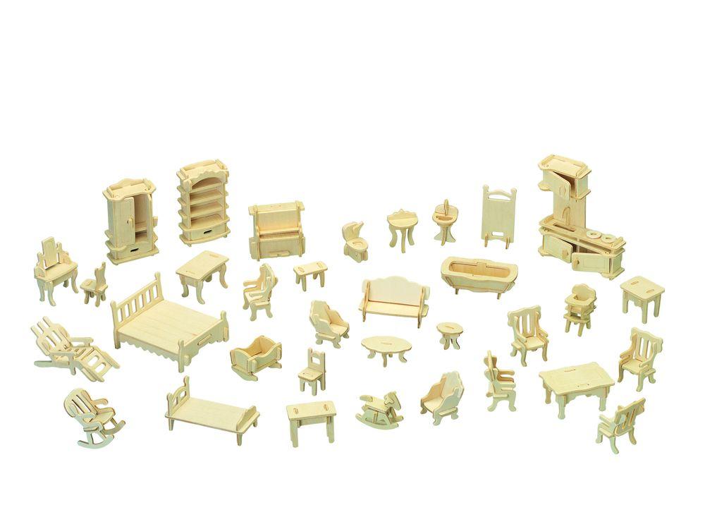 Конструктор «Мебельный гарнитур»Сборные деревянные модели<br>Конструкторы от производителя Чудо-дерево для детей и взрослых, для подарка и личного интересного досуга – теперь на Цветное.ру. Многообразие моделей позволит сделать выбор даже самому требовательному покупателю. <br> <br> Приобретая конструктор от производит...<br><br>Артикул: P077<br>Вес: 0,56 кг<br>Размер готовой модели: 8x7x3 см<br>Материал: Дерево<br>Упаковка: прозрачная пленка<br>Размер упаковки: 37,0 x 1,2 x 23,0 см<br>Количество пластин заготовок шт: 4<br>Размер пластин: 23x37x0,3 см<br>Возраст: от 5 лет