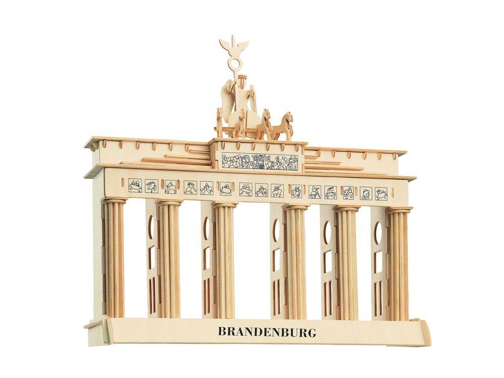 Конструктор «Бранденбургские ворота»Сборные деревянные модели<br>Конструкторы от производителя Чудо-дерево для детей и взрослых, для подарка и личного интересного досуга – теперь на Цветное.ру. Многообразие моделей позволит сделать выбор даже самому требовательному покупателю. <br> <br> Приобретая конструктор от производит...<br><br>Артикул: P078<br>Вес: 0,7 кг<br>Размер готовой модели: 35x36x12 см<br>Материал: Дерево<br>Упаковка: прозрачная пленка<br>Размер упаковки: 37,0 x 1,5 x 23,0 см<br>Количество пластин заготовок шт: 5<br>Размер пластин: 23x37x0,3 см<br>Возраст: от 5 лет