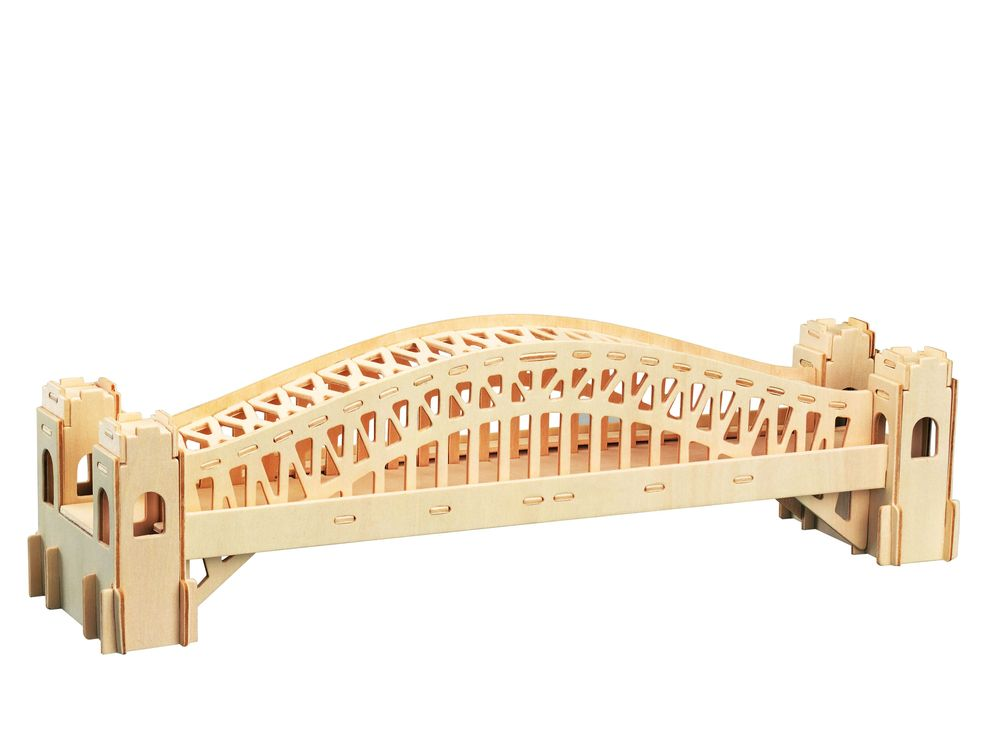 Конструктор «Сиднейский мост»Сборные деревянные модели<br>Конструкторы от производителя Чудо-дерево для детей и взрослых, для подарка и личного интересного досуга – теперь на Цветное.ру. Многообразие моделей позволит сделать выбор даже самому требовательному покупателю. <br> <br> Приобретая конструктор от производит...<br><br>Артикул: P079<br>Вес: 0,42 кг<br>Размер готовой модели: 13,5x42x10,5 см<br>Материал: Дерево<br>Упаковка: прозрачная пленка<br>Размер упаковки: 37,0 x 0,9 x 23,0 см<br>Количество пластин заготовок шт: 3<br>Размер пластин: 23x37x0,3 см<br>Возраст: от 5 лет