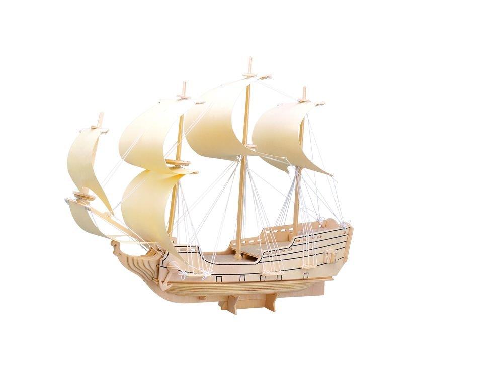 Конструктор «Парусник «Орел»Сборные деревянные модели<br>Конструкторы от производителя Чудо-дерево для детей и взрослых, для подарка и личного интересного досуга – теперь на Цветное.ру. Многообразие моделей позволит сделать выбор даже самому требовательному покупателю. <br> <br> Приобретая конструктор от производит...<br><br>Артикул: P128<br>Вес: 0,7 кг<br>Размер готовой модели: 16x36x7 см<br>Материал: Дерево<br>Упаковка: прозрачная пленка<br>Размер упаковки: 37,0 x 1,5 x 23,0 см<br>Количество пластин заготовок шт: 5<br>Размер пластин: 23x37x0,3 см<br>Возраст: от 5 лет