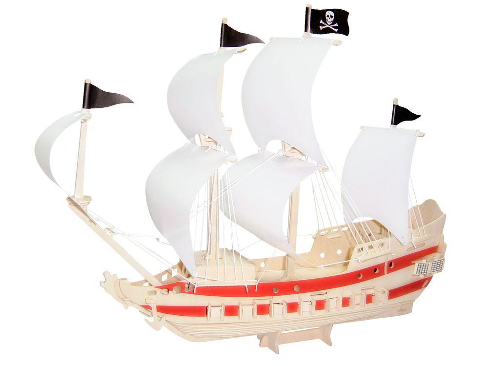 Конструктор «Пиратский корабль»Сборные деревянные модели<br>Конструкторы от производителя Чудо-дерево для детей и взрослых, для подарка и личного интересного досуга – теперь на Цветное.ру. Многообразие моделей позволит сделать выбор даже самому требовательному покупателю. <br> <br> Приобретая конструктор от производит...<br><br>Артикул: P199<br>Вес: 0,7 кг<br>Размер готовой модели: 45x35x15 см<br>Материал: Дерево<br>Упаковка: прозрачная пленка<br>Размер упаковки: 37,0 x 1,5 x 23,0 см<br>Количество пластин заготовок шт: 5<br>Размер пластин: 23x37x0,3 см<br>Возраст: от 5 лет