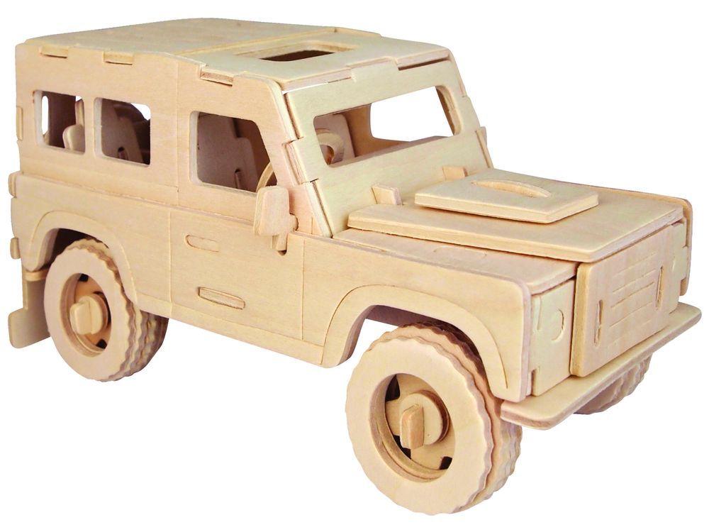 Конструктор «Английский внедорожник»Сборные деревянные модели<br>Конструкторы от производителя Чудо-дерево для детей и взрослых, для подарка и личного интересного досуга – теперь на Цветное.ру. Многообразие моделей позволит сделать выбор даже самому требовательному покупателю. <br> <br> Приобретая конструктор от производит...<br><br>Артикул: P323<br>Вес: 0,42 кг<br>Размер готовой модели: 9x20x8 см<br>Материал: Дерево<br>Упаковка: прозрачная пленка<br>Размер упаковки: 37,0 x 0,0 x 23,0 см<br>Количество пластин заготовок шт: 3<br>Размер пластин: 23x37x0,3 см<br>Возраст: от 5 лет
