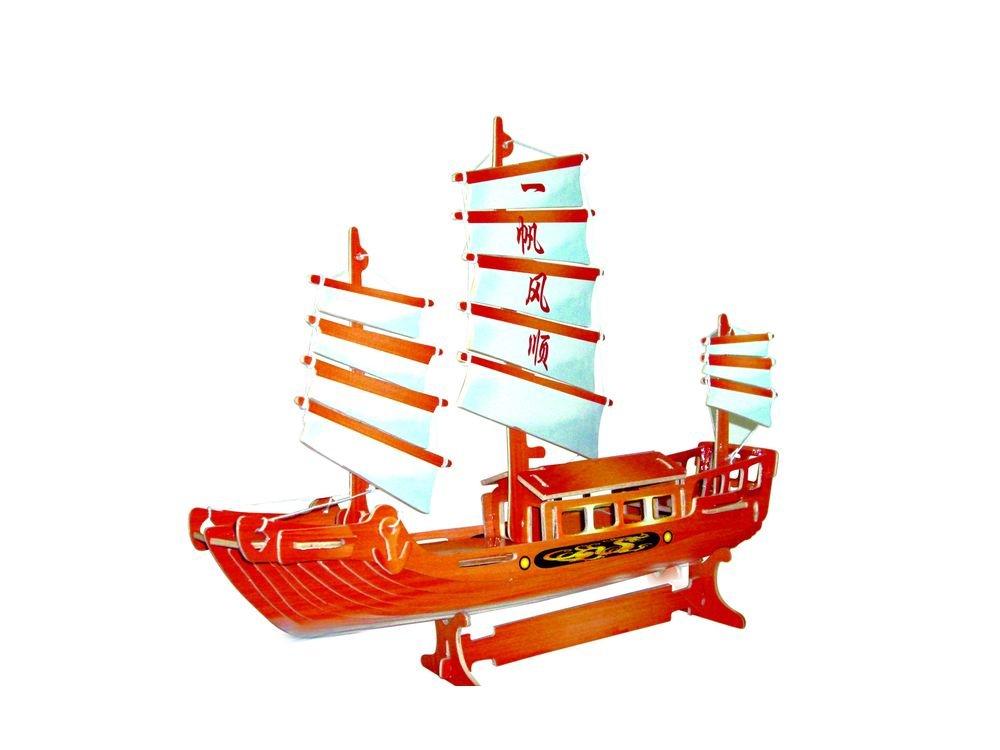 Конструктор «Корабль джонка (цветной)»Сборные деревянные модели<br>Конструкторы от производителя Чудо-дерево для детей и взрослых, для подарка и личного интересного досуга – теперь на Цветное.ру. Многообразие моделей позволит сделать выбор даже самому требовательному покупателю. <br> <br> Приобретая конструктор от производит...<br><br>Артикул: PC045<br>Вес: 0,42 кг<br>Размер готовой модели: 25,5x32x7,3 см<br>Материал: Дерево<br>Упаковка: прозрачная пленка<br>Размер упаковки: 37,0 x 0,9 x 23,0 см<br>Количество пластин заготовок шт: 3<br>Размер пластин: 23x37x0,3 см<br>Возраст: от 5 лет