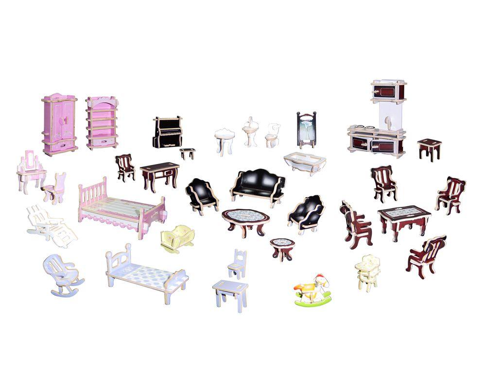 Конструктор «Мебельный гарнитур (цветной)»Сборные деревянные модели<br>Конструкторы от производителя Чудо-дерево для детей и взрослых, для подарка и личного интересного досуга – теперь на Цветное.ру. Многообразие моделей позволит сделать выбор даже самому требовательному покупателю. <br> <br> Приобретая конструктор от производит...<br><br>Артикул: PC077<br>Вес: 0,56 кг<br>Размер готовой модели: 8x7x3 см<br>Материал: Дерево<br>Упаковка: прозрачная пленка<br>Размер упаковки: 37,0 x 1,2 x 23,0 см<br>Количество пластин заготовок шт: 4<br>Размер пластин: 23x37x0,3 см<br>Возраст: от 5 лет