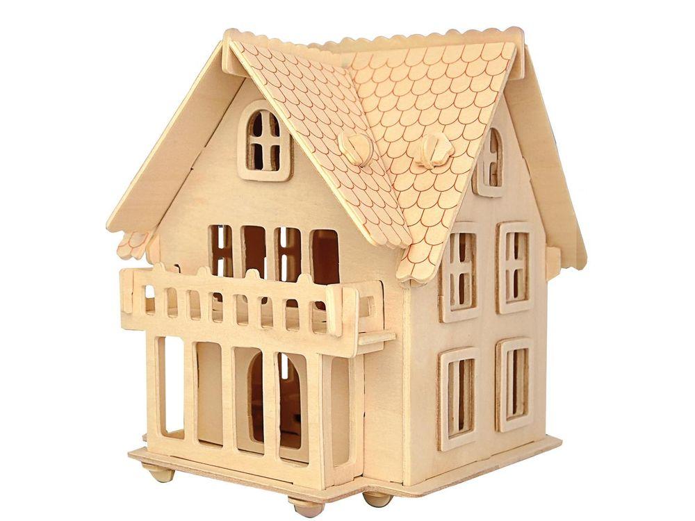 Конструктор «Загородный дом»Сборные деревянные модели<br>Конструкторы от производителя Чудо-дерево для детей и взрослых, для подарка и личного интересного досуга – теперь на Цветное.ру. Многообразие моделей позволит сделать выбор даже самому требовательному покупателю. <br> <br> Приобретая конструктор от производит...<br><br>Артикул: PH062<br>Вес: 0,42 кг<br>Размер готовой модели: 15x14,5x18,5 см<br>Материал: Дерево<br>Упаковка: прозрачная пленка<br>Размер упаковки: 37,0 x 0,9 x 23,0 см<br>Количество пластин заготовок шт: 3<br>Размер пластин: 23x37x0,3 см<br>Возраст: от 5 лет