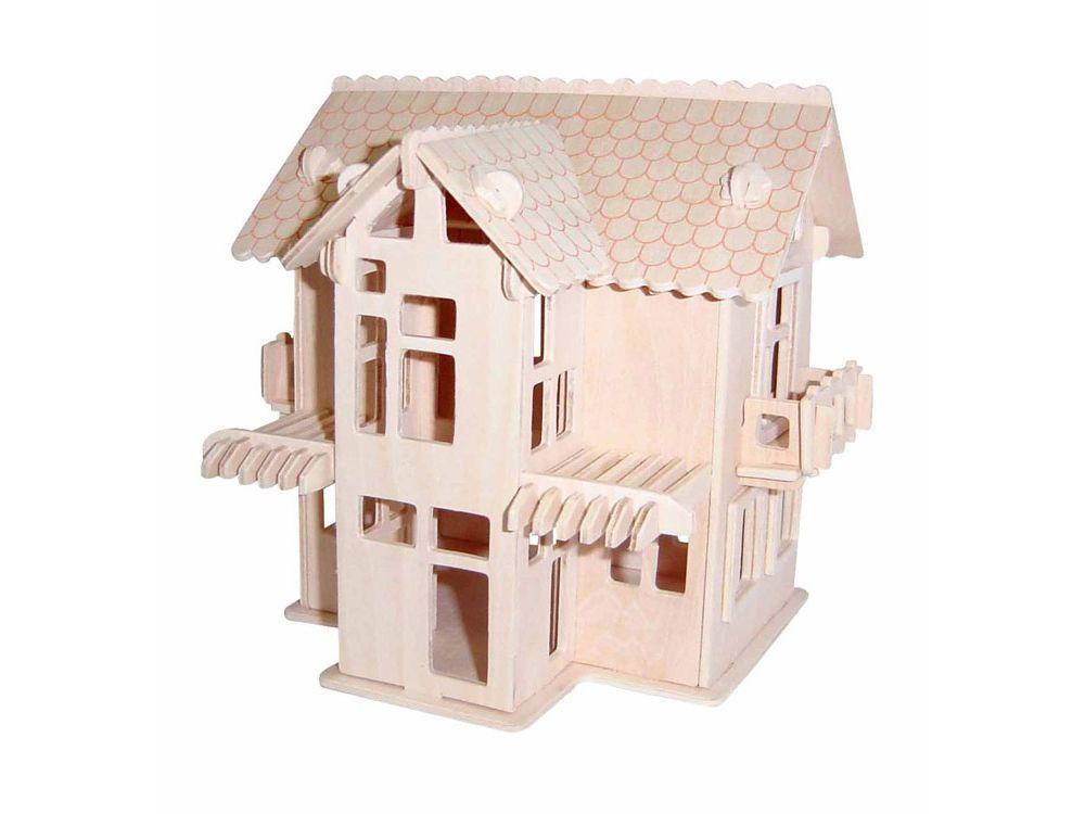 Конструктор «Загородный домик 3»Сборные деревянные модели<br>Конструкторы от производителя Чудо-дерево для детей и взрослых, для подарка и личного интересного досуга – теперь на Цветное.ру. Многообразие моделей позволит сделать выбор даже самому требовательному покупателю. <br> <br> Приобретая конструктор от производит...<br><br>Артикул: PH063<br>Вес: 0,42 кг<br>Размер готовой модели: 16x19x18,2 см<br>Материал: Дерево<br>Упаковка: прозрачная пленка<br>Размер упаковки: 37,0 x 0,9 x 23,0 см<br>Количество пластин заготовок шт: 3<br>Размер пластин: 23x37x0,3 см<br>Возраст: от 5 лет