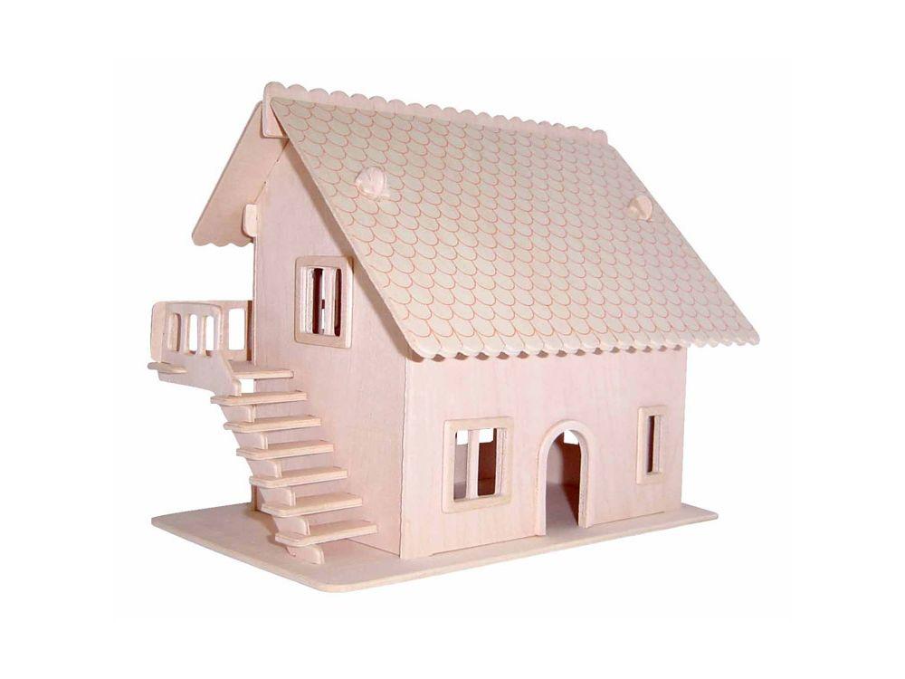 Конструктор «Загородный домик 5»Сборные деревянные модели<br>Конструкторы от производителя Чудо-дерево для детей и взрослых, для подарка и личного интересного досуга – теперь на Цветное.ру. Многообразие моделей позволит сделать выбор даже самому требовательному покупателю. <br> <br> Приобретая конструктор от производит...<br><br>Артикул: PH065<br>Вес: 0,42 кг<br>Размер готовой модели: 16,3x20x18,8 см<br>Материал: Дерево<br>Упаковка: прозрачная пленка<br>Размер упаковки: 37,0 x 0,9 x 23,0 см<br>Количество пластин заготовок шт: 3<br>Размер пластин: 23x37x0,3 см<br>Возраст: от 5 лет