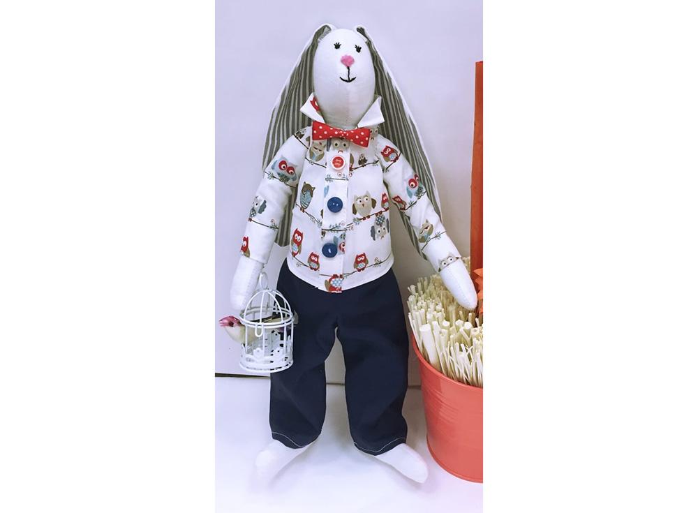 Набор для шитья «Галантный заяц»Наборы для шитья кукол<br><br><br>Артикул: DI006<br>Основа: Текстиль<br>Сложность: очень сложные<br>Размер: Высота готовой игрушки 35 см<br>Техника: Шитье<br>Упаковка: Картонная коробка