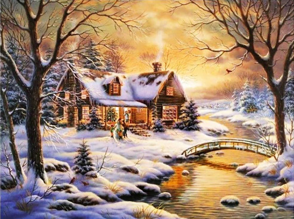 Алмазная живопись Стразы «Вдали от города» Джуди Гибсон АЖ-1421