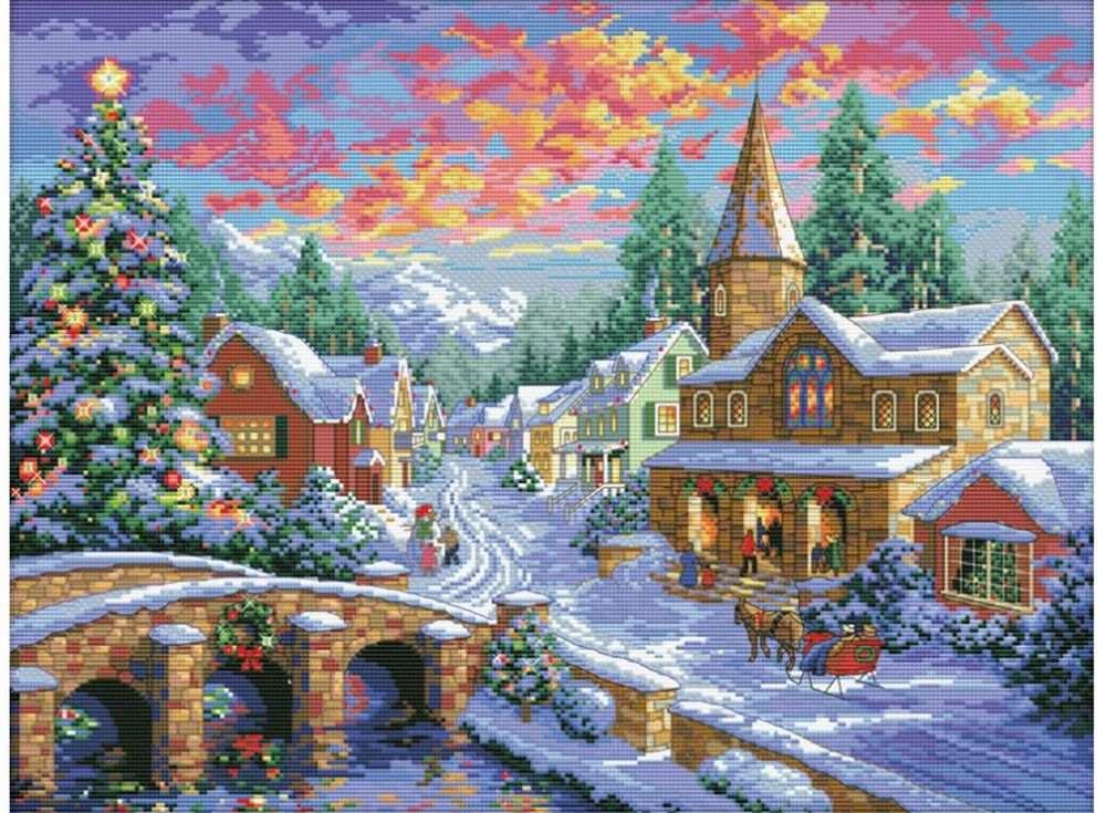 Набор для вышивания «Рождественская ночь»Белоснежка<br><br><br>Артикул: В-2289<br>Основа: канва Aida 14<br>Сложность: очень сложные<br>Размер: 42x54 см<br>Техника вышивки: счетный крест<br>Тип схемы вышивки: Цветная схема<br>Количество крестиков: 192x256<br>Цвет канвы: Белый<br>Размер вышитой работы: 35x47 см<br>Количество цветов: 47<br>Рисунок на канве: не нанесён<br>Техника: Вышивка крестом