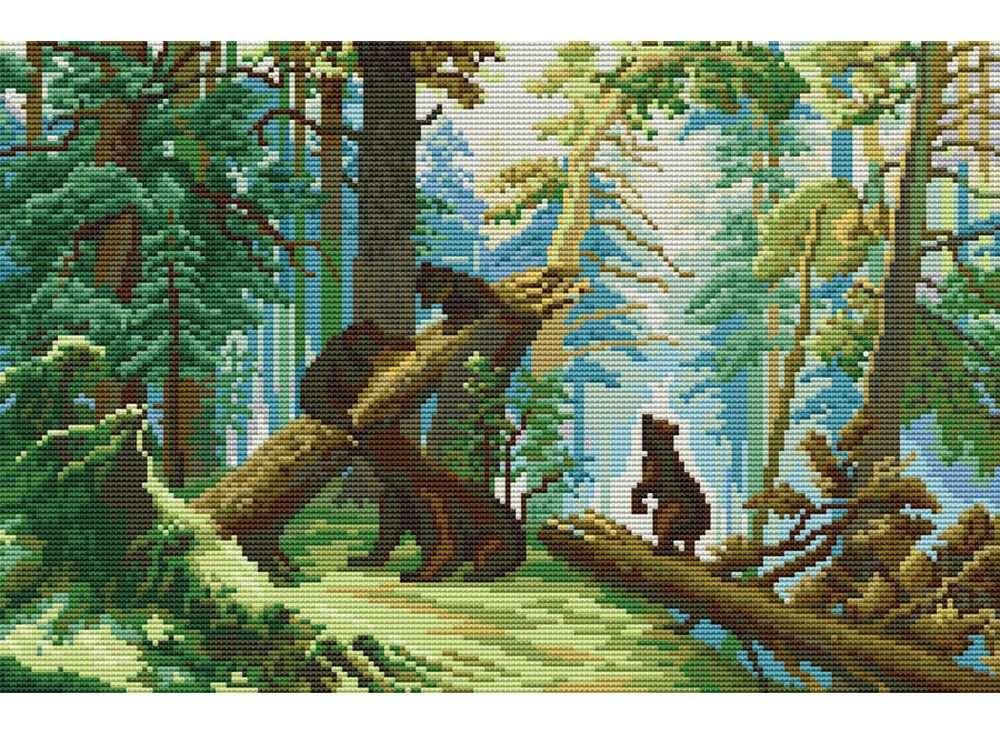 Набор для вышивания «Утро в сосновом лесу»Белоснежка<br><br><br>Артикул: В-4160<br>Основа: канва Aida 14<br>Сложность: сложные<br>Размер: 30x42 см<br>Техника вышивки: счетный крест<br>Тип схемы вышивки: Цветная схема<br>Количество крестиков: 124x190<br>Цвет канвы: Белый<br>Размер вышитой работы: 23x35 см<br>Количество цветов: 36<br>Рисунок на канве: не нанесён<br>Техника: Вышивка крестом