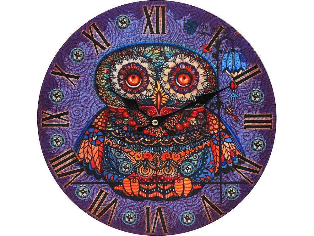 Часы настенные «Волшебная сова»Дизайнерские настенные часы<br><br><br>Артикул: 001-CL<br>Размер: 34 см (диаметр)