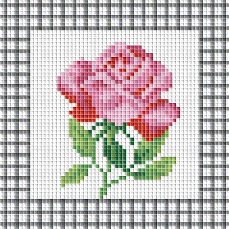 Стразы «Розовая роза»Алмазная вышивка фирмы Белоснежка<br><br><br>Артикул: 035-ST<br>Основа: Холст без подрамника<br>Сложность: сложные<br>Размер: 15x15 см<br>Выкладка: Полная<br>Количество цветов: 10<br>Тип страз: Квадратные