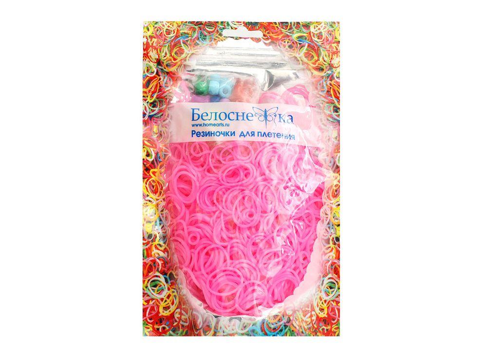 Резиночки для плетенияРезинки для плетения<br><br><br>Артикул: 094-RB<br>Цвет: Розовый<br>Количество резинок шт: 1000