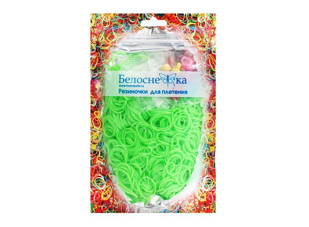 Резиночки для плетенияРезинки для плетения<br><br><br>Артикул: 097-RB<br>Цвет: Светло-зеленый<br>Количество резинок шт: 1000