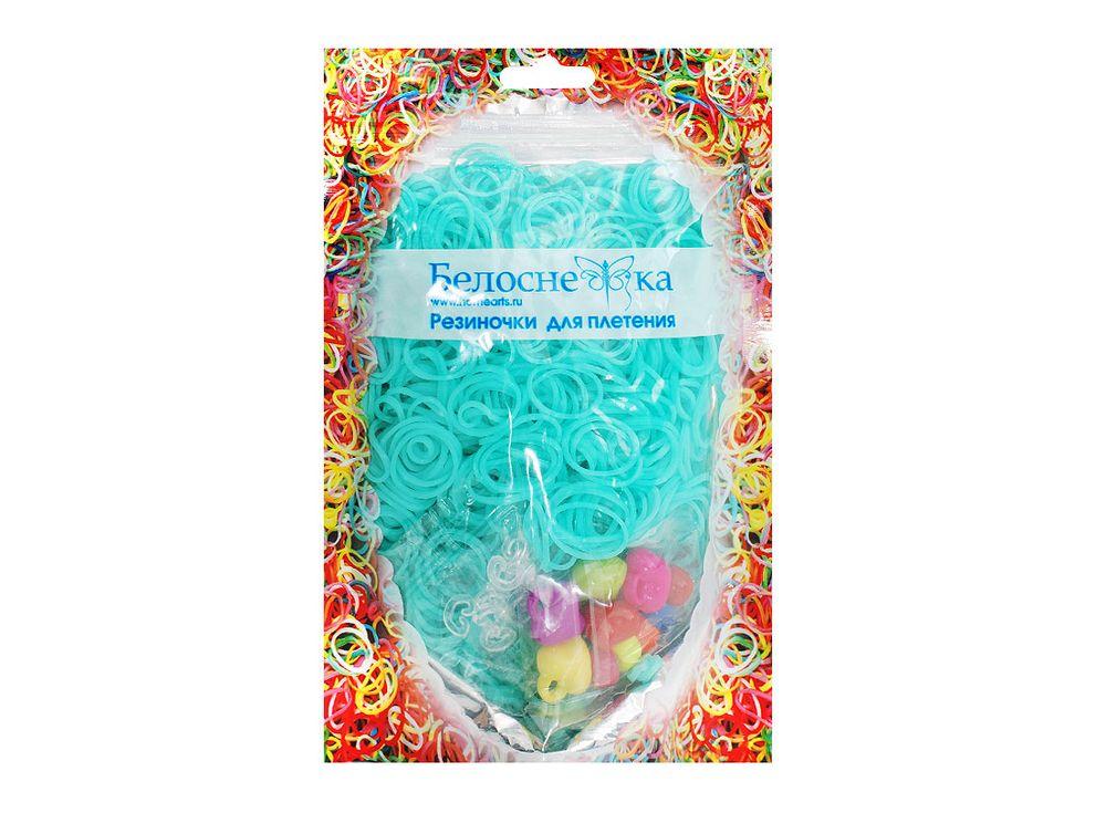 Резиночки для плетенияРезинки для плетения<br><br><br>Артикул: 098-RB<br>Цвет: Бирюзовый<br>Количество резинок шт: 1000