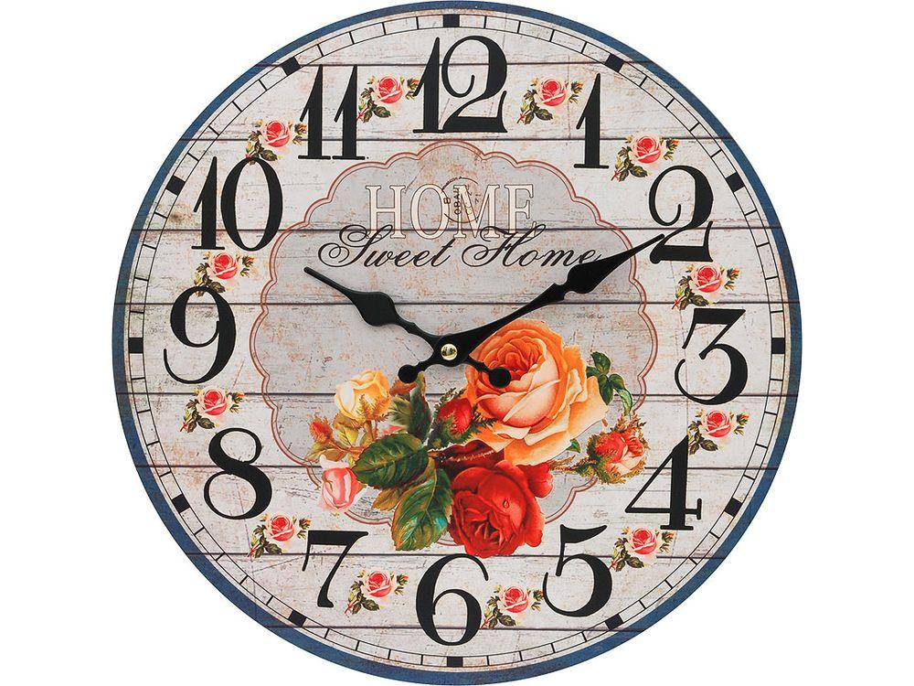 Часы настенные «Любимый дом»Дизайнерские настенные часы<br><br><br>Артикул: 110-CL<br>Размер: 34 см (диаметр)