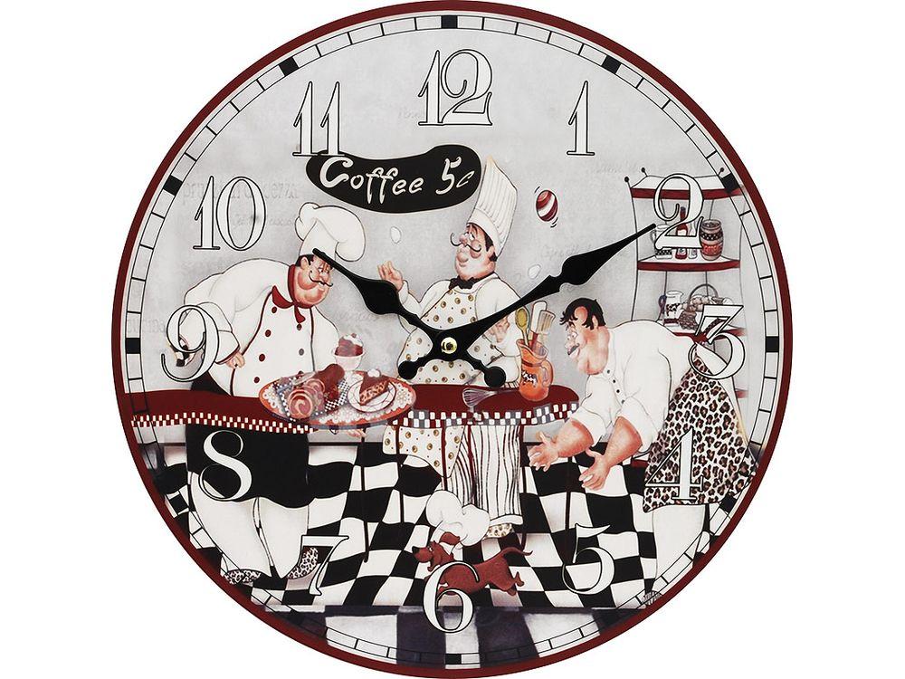 Часы настенные «Время пить кофе»Дизайнерские настенные часы<br><br><br>Артикул: 111-CL<br>Размер: 34 см (диаметр)