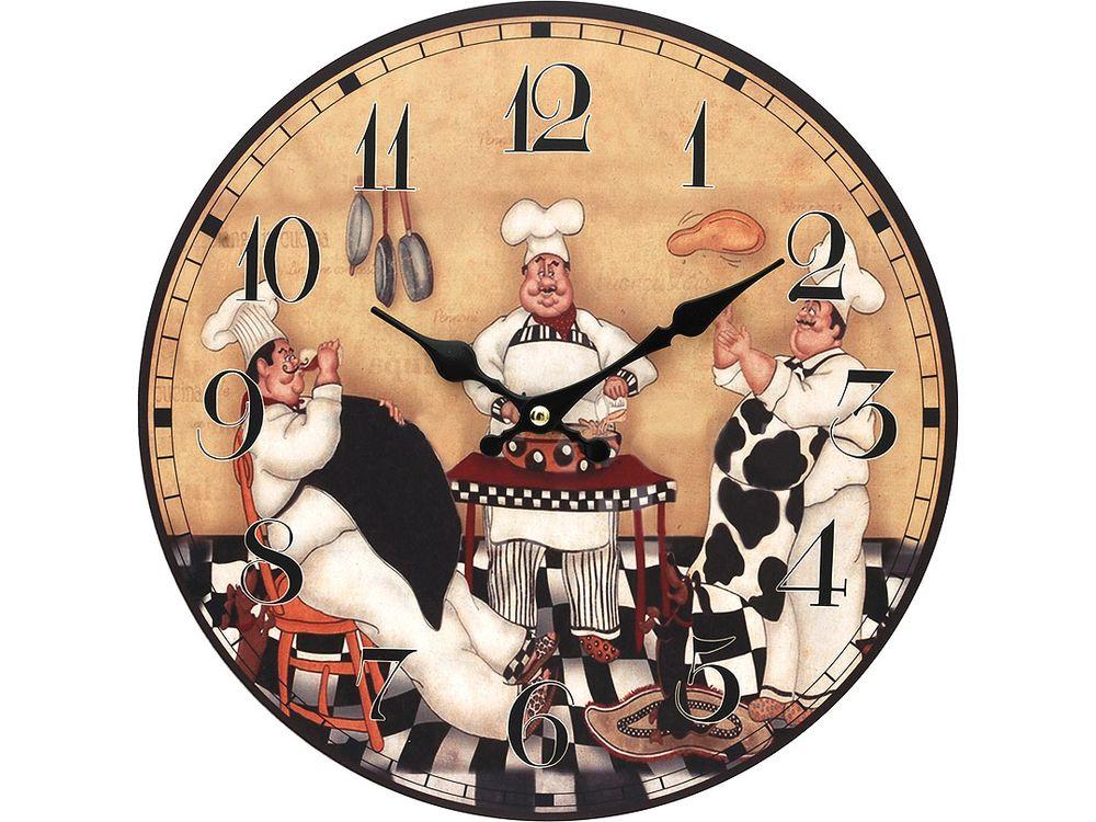 Часы настенные «Время печь пироги»Дизайнерские настенные часы<br><br><br>Артикул: 114-CL<br>Размер: 34 см (диаметр)