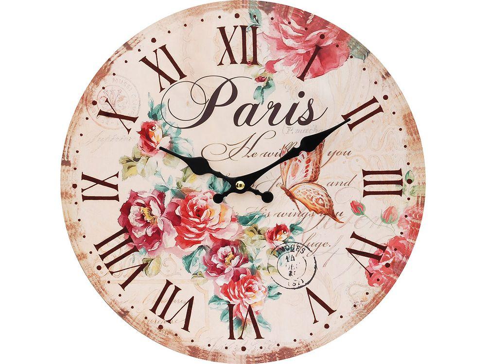 Часы настенные «Аромат лета»Дизайнерские настенные часы<br><br><br>Артикул: 118-CL<br>Размер: 34 см (диаметр)