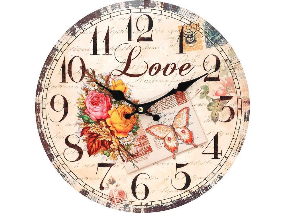 Часы настенные «Любовь»Дизайнерские настенные часы<br><br><br>Артикул: 119-CL<br>Размер: 34 см (диаметр)