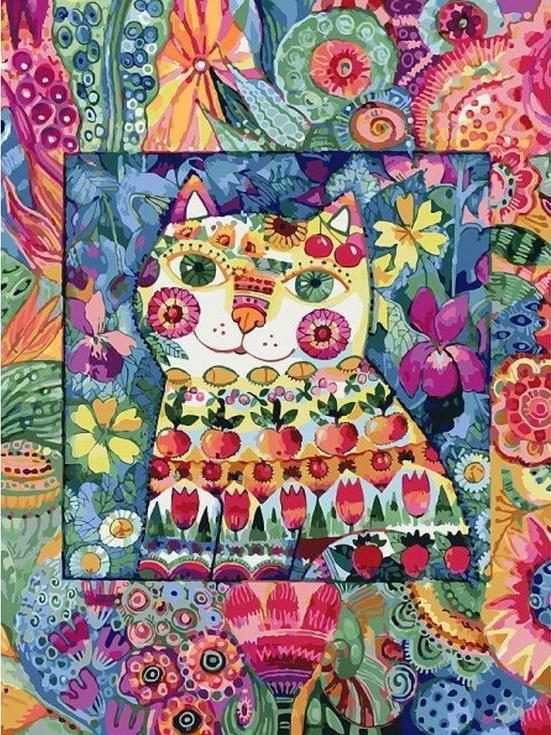 «Кот в окошке» Оксаны ЗаикиКартины по номерам Белоснежка<br><br><br>Артикул: 124-AS<br>Основа: Холст<br>Сложность: сложные<br>Размер: 30x40 см<br>Количество цветов: 34<br>Техника рисования: Без смешивания красок