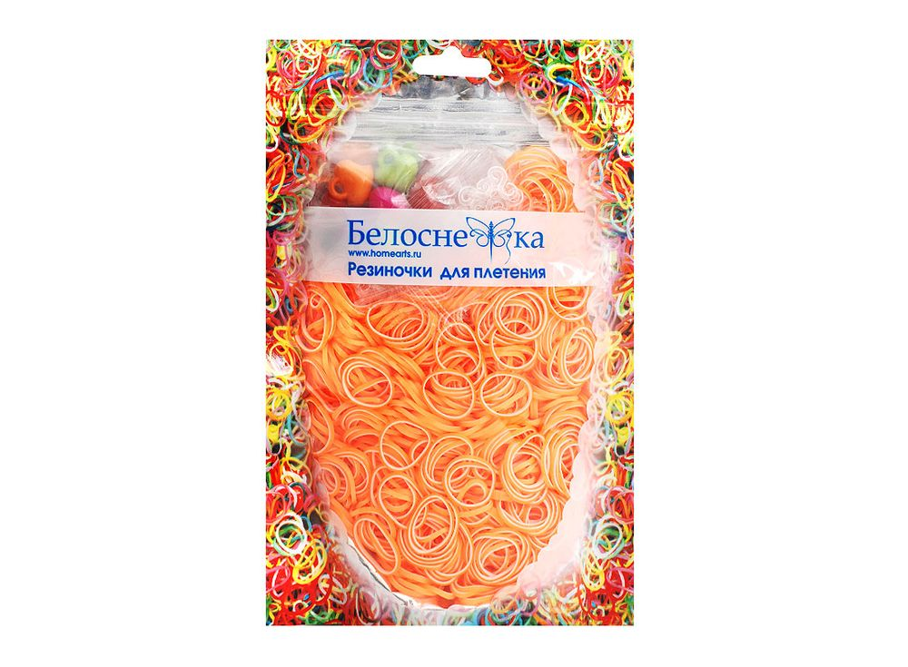Резиночки для плетения двухцветныеРезинки для плетения<br><br><br>Артикул: 124-RB<br>Цвет: Белый+желтый<br>Количество резинок шт: 1000